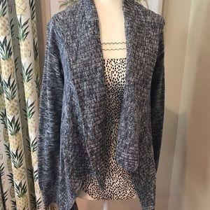 Gray Wrap Cardi Charcoal Heather Cardigan Sweater